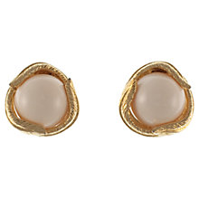 Buy Eclectica 1960s Ciner Gold Plated Clip-On Earrings, Cream Online at johnlewis.com
