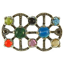 Buy Eclectica 1960s Miracle Faux Agate Seven Stone Brooch, Multi Online at johnlewis.com
