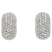 Buy Eclectica 1980s Christian Dior Half Hoop Glass Stone Earrings, Chrome Online at johnlewis.com