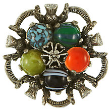 Buy Eclectica Vintage 1960s Miracle Faux Agate Five Stone Brooch, Multi Online at johnlewis.com