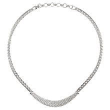 Buy Eclectica 1980s Christian Dior Chrome Plated Snake Chain Necklace, Silver Online at johnlewis.com