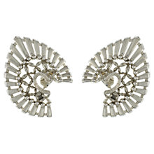 Buy Eclectica 1950s Monet Clip-On Earrings, Chrome Online at johnlewis.com