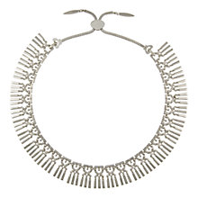 Buy Eclectica 1950s Monet Triple Tine Large Adjustable Necklace, Chrome Online at johnlewis.com