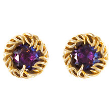Buy Eclectica 1950s Art Faceted Glass Clip-On Earrings, Purple Online at johnlewis.com