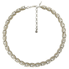 Buy Eclectica 1950s Trifari Leaf Link Necklace, Chrome Online at johnlewis.com