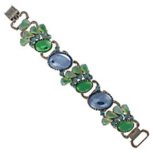 Buy Eclectica 1950s Julianna Glass Rhinestone Bracelet, Green / Blue Online at johnlewis.com