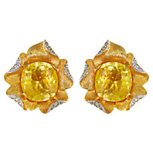Buy Eclectica 1970s Jomaz Gold Plated Glass Clip-On Earrings, Citrine Online at johnlewis.com