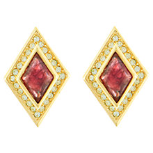 Buy Eclectica 1980s Christian Dior Gold Plated Ruby Glass Clip-On Earrings, Red Online at johnlewis.com