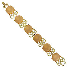 Buy Eclectica 1950s Coro Gold Plated Thermoplastic Bracelet, Brown Online at johnlewis.com