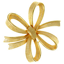 Buy Eclectica 1950s Trifari Bow Brooch, Gold Online at johnlewis.com