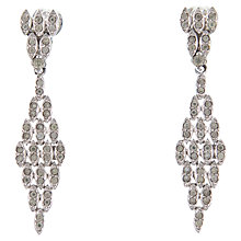 Buy Eclectica 1960s Panetta Chrome Plated Clip-On Earrings Online at johnlewis.com