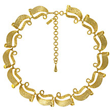 Buy Eclectica 1950s Monet Gold Plated Curved Edge Necklace Online at johnlewis.com