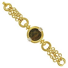 Buy Eclectica 1980s Gold Plated Coin Motif Bracelet Online at johnlewis.com