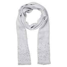 Buy Jacques Vert Dove Embelished Jewelled Scarf, Dove Online at johnlewis.com