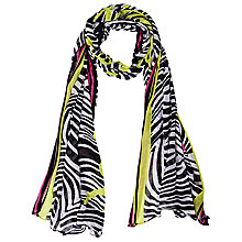 Buy Betty Barclay Zebra Print Scarf, Black/Pink Online at johnlewis.com