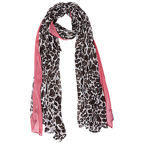 Buy Betty Barclay Leopard Print Scarf, Cream/Brown Online at johnlewis.com
