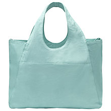 Buy Whistles Freya Lizard Effect Shopper, Pale Blue Online at johnlewis.com