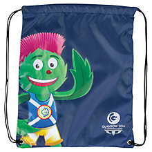 Buy Glasgow 2014 Commonwealth Games Clyde Drawstring Bag, Navy Online at johnlewis.com