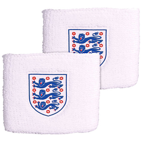 Buy Official England Three Lions Wristbands, White Online at johnlewis.com