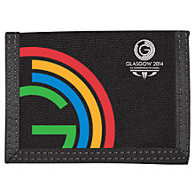 Buy Glasgow 2014 Commonwealth Games Logo Velcro Wallet, Black Online at johnlewis.com