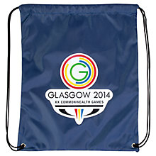 Buy Glasgow 2014 Commonwealth Games Drawstring Bag, Navy Online at johnlewis.com
