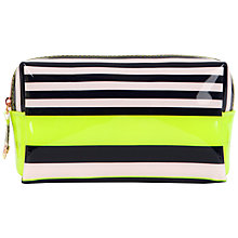 Buy Ted Baker Glender Small Candy Stripe Wash Bag, Navy Online at johnlewis.com