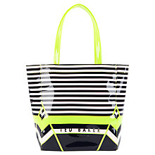 Buy Ted Baker Stricon Small Icon Shopper Handbag, Navy Online at johnlewis.com