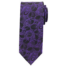 Buy Daniel Hechter Tonal Leaf Design Tie Online at johnlewis.com