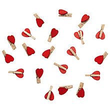 Buy John Lewis Red Heart Pegs, Pack of 20 Online at johnlewis.com
