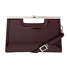 Buy Peter Kaiser Wye Patent Bag, Aubergine Online at johnlewis.com