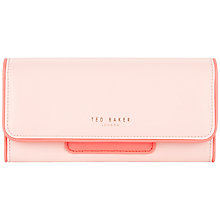 Buy Ted Baker Meekens Leather Mirror Charm Purse, Light Pink Online at johnlewis.com