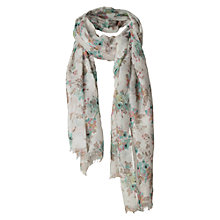 Buy Fat Face Oriental Blossom Scarf, Ivory Online at johnlewis.com