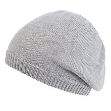 Buy John Lewis Plain Knit Beret, Grey Online at johnlewis.com