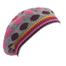 Buy John Lewis Stripes & Spots Beret, Multi Online at johnlewis.com