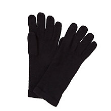 Buy John Lewis Plain Knit Gloves, Black Online at johnlewis.com