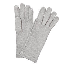 Buy John Lewis Plain Knit Gloves, Grey Online at johnlewis.com