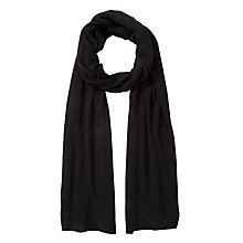 Buy John Lewis Plain Knit Scarf, Black Online at johnlewis.com