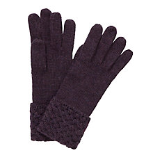 Buy John Lewis Basket Weave Cuff Gloves Online at johnlewis.com