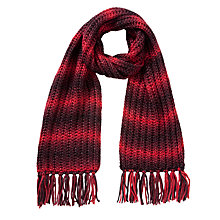 Buy Collection WEEKEND by John Lewis Spacedye Chunky Scarf, Red Online at johnlewis.com
