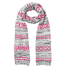 Buy Collection WEEKEND by John Lewis Fairisle Spacedye Scarf, Multi Online at johnlewis.com