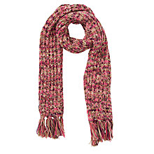 Buy John Lewis Tonal Stitch Tassel Scarf, Pink Online at johnlewis.com