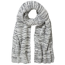 Buy Collection WEEKEND by John Lewis Pearl Knit Mono Scarf, Black/White Online at johnlewis.com