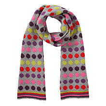 Buy John Lewis Stripe Spot Scarf, Multi Online at johnlewis.com