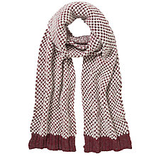 Buy Collection WEEKEND by John Lewis Loop Stitch Rectangular Scarf, Grey/Burgundy Online at johnlewis.com