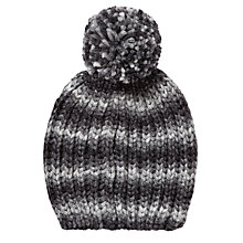 Buy John Lewis Spacedye Chunky Beanie, Grey Online at johnlewis.com