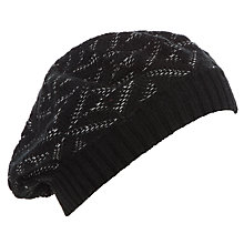 Buy Collection WEEKEND by John Lewis Diamond Texture Knit Beret Hat, Black Online at johnlewis.com