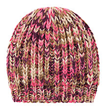 Buy John Lewis Tonal Stitch Beanie, Pink Online at johnlewis.com
