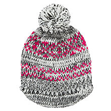 Buy Collection WEEKEND by John Lewis Fairisle Spacedye Bakerboy Bobble Beanie Hat, Multi Online at johnlewis.com