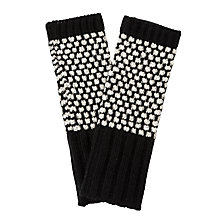 Buy Collection WEEKEND by John Lewis Popcorn Stitch Handwarmers, Black Online at johnlewis.com
