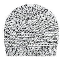 Buy Collection WEEKEND by John Lewis Pearl Knit Mono Beanie Hat, One Size, Black Online at johnlewis.com